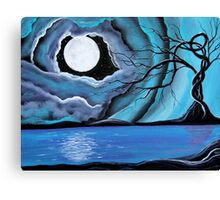 Surreal Landscape - by Angieclementine tree landscape moon Canvas Print