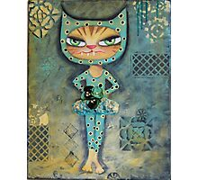 The Dancer - Babycat art by Angieclementine Photographic Print
