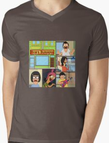 Bobs Burgers Collage Mens V-Neck T-Shirt