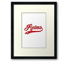 Reims style Baseball Framed Print