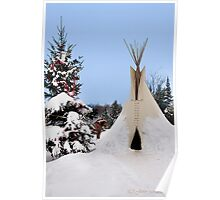 Winter in Canada...the Cheyenne way Poster
