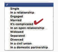 Its complicated Relationship status by nicethreads