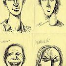 'STICKY NOTE EMOTICONS' (Group I)  by Jerry Kirk
