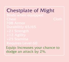 Chestplate of Might One Piece - Short Sleeve