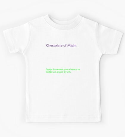 Chestplate of Might Kids Tee