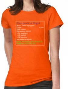 Chestplate of Might Womens Fitted T-Shirt
