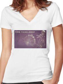 Orianna Time Ticks Away Women's Fitted V-Neck T-Shirt