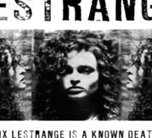Bellatrix Lestange Wanted  Sticker