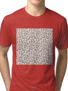 Glamorous Faux Sparkly Gold & Silver Leopard Tri-blend T-Shirt