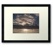 White Sunset Framed Print