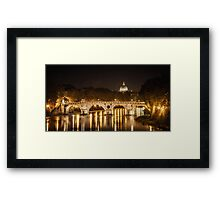 Tiber River, Rome Italy Framed Print