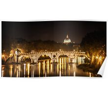 Tiber River, Rome Italy Poster