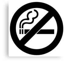 smoke  prohibited no smoking Canvas Print