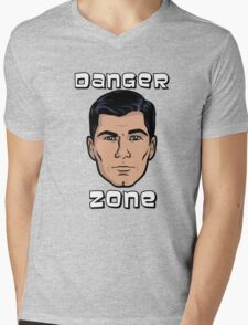 Danger Zone Archer Mens V-Neck T-Shirt