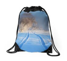 Winter Wonderland - Icy Trees Drawstring Bag