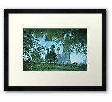 reflection of the temple Framed Print