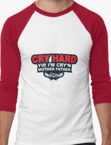 CRY HARD  Men's Baseball ¾ T-Shirt