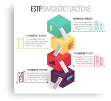 ESTP Sarcastic Functions Canvas Print