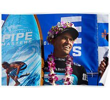 The King of Banzai Pipeline Poster