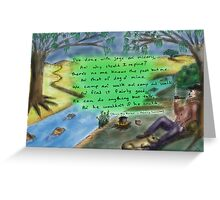 Down the River Greeting Card