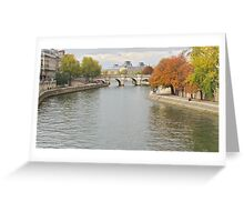 Autumn on the Seine Greeting Card