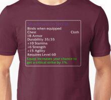 Shadowskin Jerkin Unisex T-Shirt