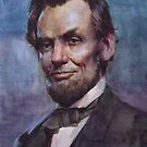 Lincoln  water color by Josef Rubinstein