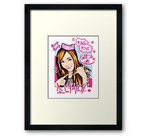 SNSD Jessica - Beep Beep Theme Framed Print