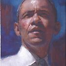 Obama Water color by Josef Rubinstein