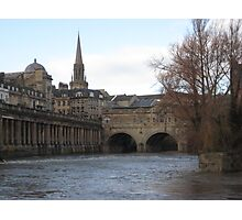 Along the Water in Bath Photographic Print