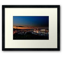Newhaven Docks Framed Print