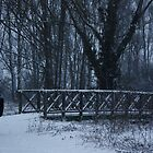 Snowy Bridge with figure by dvdan