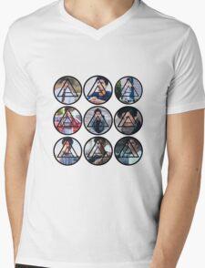 Alex Aiono Circle Logo Mens V-Neck T-Shirt