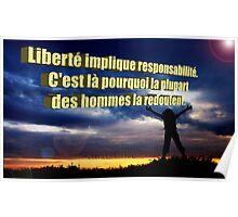 Frensh proverb  Poster