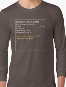 Simple Linen Shirt (set item) Long Sleeve T-Shirt