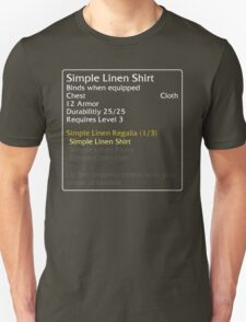 Simple Linen Shirt (set item) Unisex T-Shirt