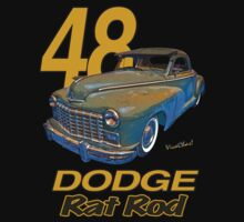 48 Dodge Business Coupe Rat Rod Kids Tee