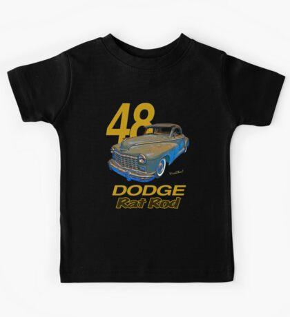 48 Dodge Business Coupe Rat Rod Kids Tee