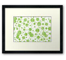 grunge molecular structure pattern Framed Print