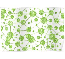 grunge molecular structure pattern Poster