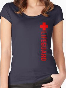 Lifeguard (Red Vertical Variant) Hoodie Women's Fitted Scoop T-Shirt