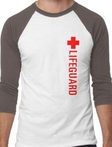 Lifeguard (Red Vertical Variant) Hoodie Men's Baseball ¾ T-Shirt