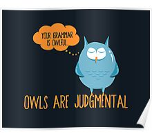 Owls Are Judgmental Poster