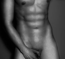 Nude Male Torso B/W by enriquepma