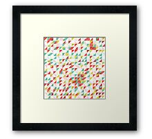 Colorful Abstract Geometric Triangle Pattern Framed Print
