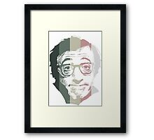 Woody Allen in stripes Framed Print