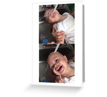 small child water  Greeting Card