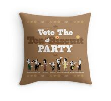 Vote the Tea & Biscuit Party Throw Pillow