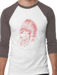 The Master Chief - Red Men's Baseball ¾ T-Shirt