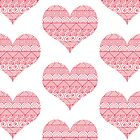 Patterned Hearts Pattern by Mariya Olshevska